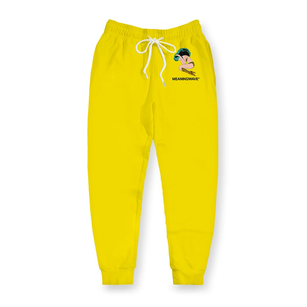 Meaningwave - Yellow Lum Men's Joggers