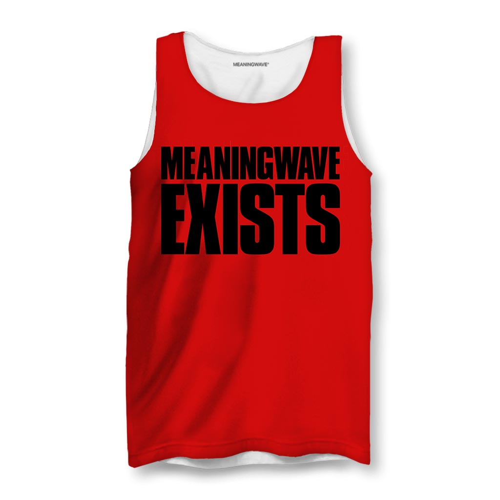 MEANINGWAVE EXISTS Men's Tanks