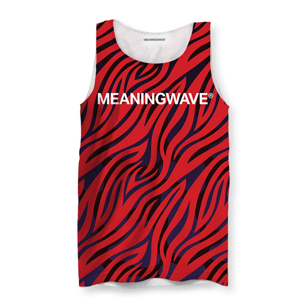Meaningwave Rick James Neon Zebra Men's Tank