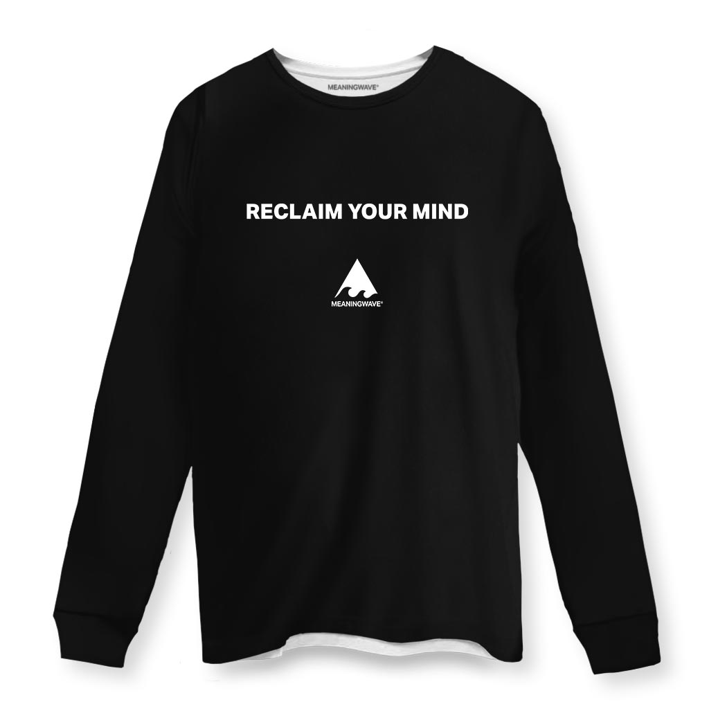 RECLAIM YOUR MIND Long Sleeve Cotton Shirt
