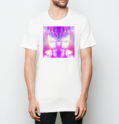 Terence McKenna CLOCKWORK ELVES Cotton Crew Tee in black & white