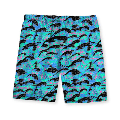 THE GREAT WAVE OF MEANING Men's Swim Shorts