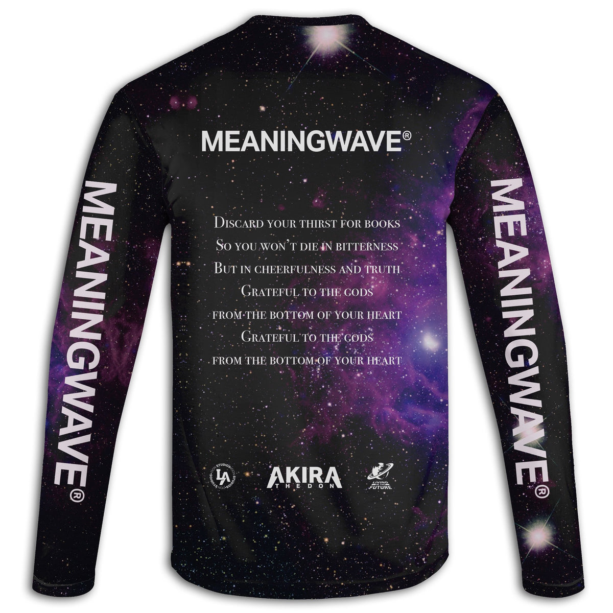 AKIRA THE DON & MARCUS AURELIUS - GRATEFUL TO THE GODS Long Sleeve Tee | meaningwave.com