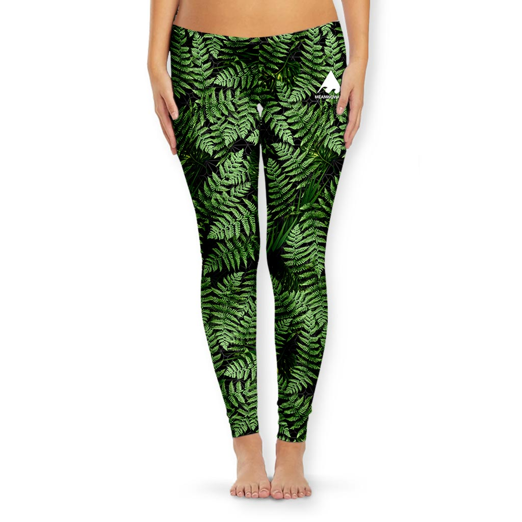 MEANINGWAVE AESTHETIC FERN Women's Tights