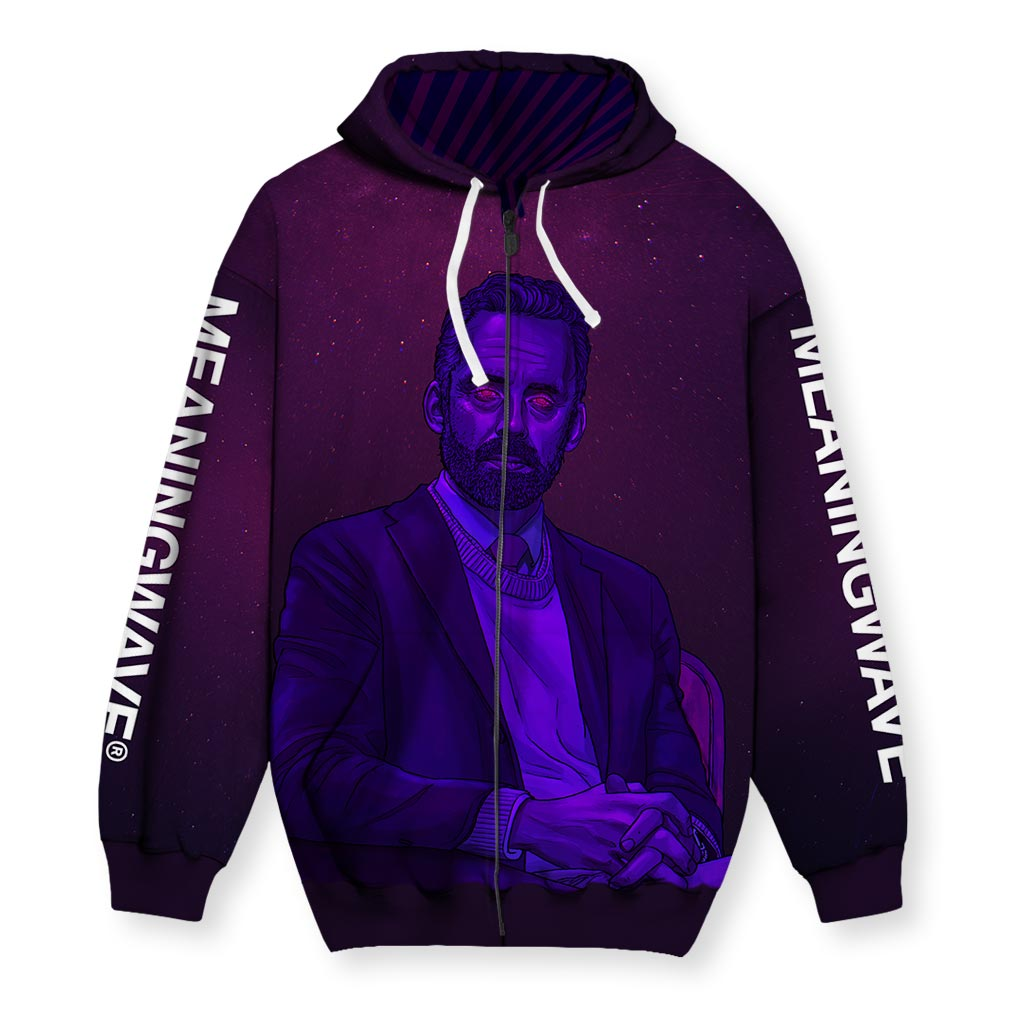 JBPWAVE: AESTHETIC Men's Zip-Up Hoodie