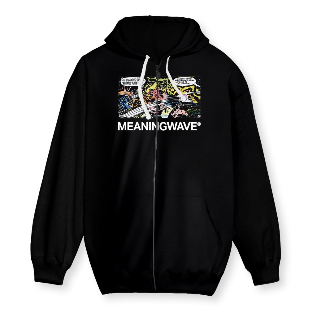 Meaningwave I See Everything Men's Zip-Up Hoodie