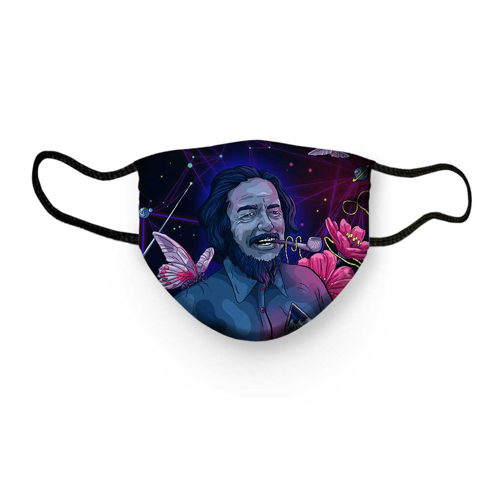 Alan Watts THE WEB OF LIFE Face Mask