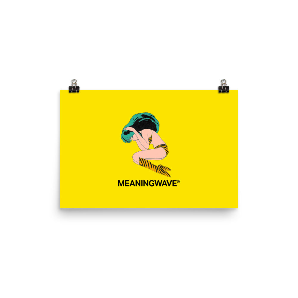 MEANINGWAVE Yellow Lum | Poster