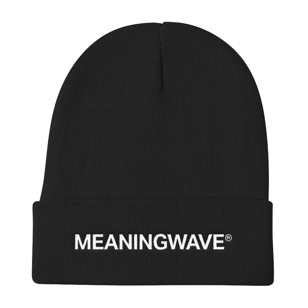 MEANINGWAVE | Knit Beanie