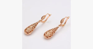Rose Gold Plated Water Drop Earrings