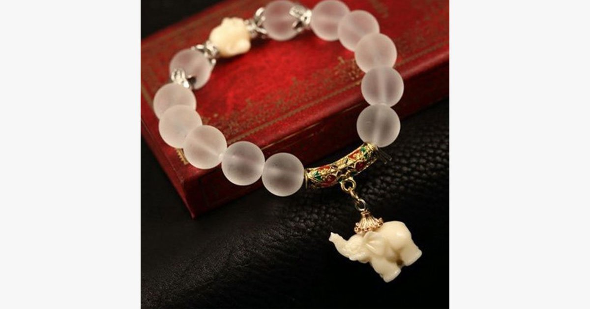 Natural Frosted Elephant Bracelet - FREE SHIP DEALS