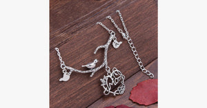 Nature's Love Heart Pendant Necklace - FREE SHIP DEALS