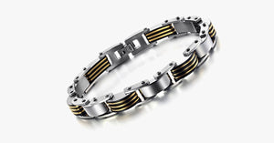 Golden Black Men's Bracelet - FREE SHIP DEALS