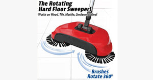Floor Sweeper With Rotating Brushes - FREE SHIP DEALS