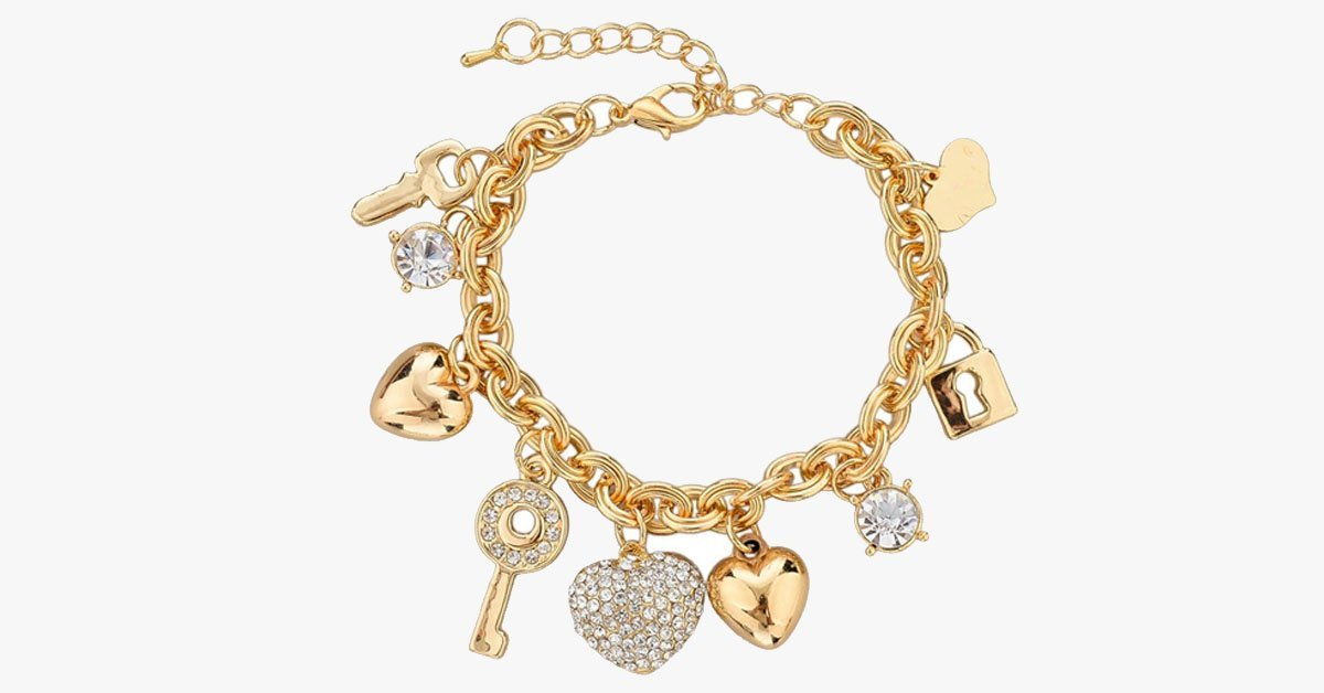 Heart Beetle Charm Bracelet - FREE SHIP DEALS