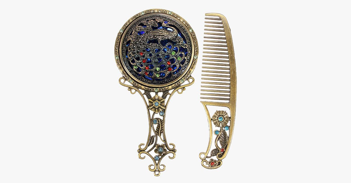 Vintage Hair Comb and Mirror - FREE SHIP DEALS