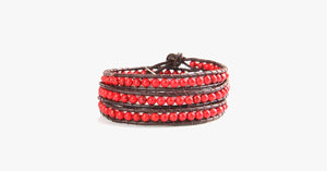 Bold Red  Wrap Bracelet - FREE SHIP DEALS