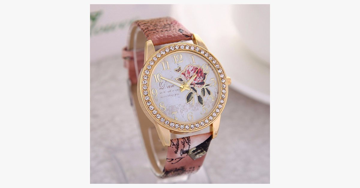 Elegant Rose Wristwatch - FREE SHIP DEALS