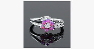 Flower Fire Opal Ring - FREE SHIP DEALS
