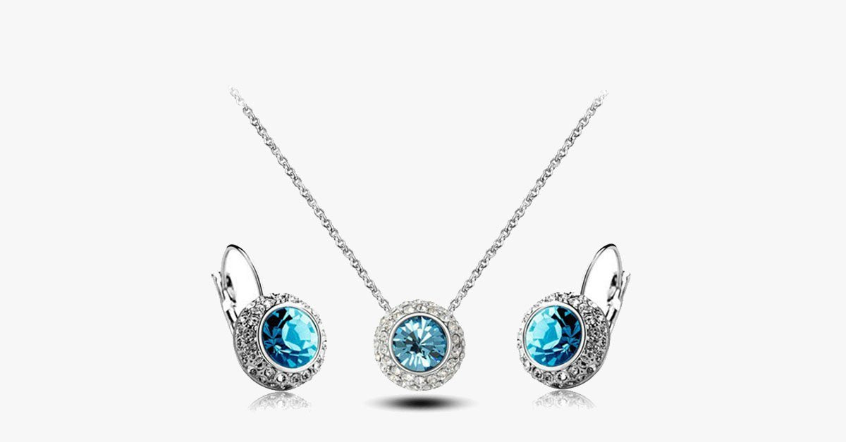 Austrian Crystal Round Moon River Set - FREE SHIP DEALS