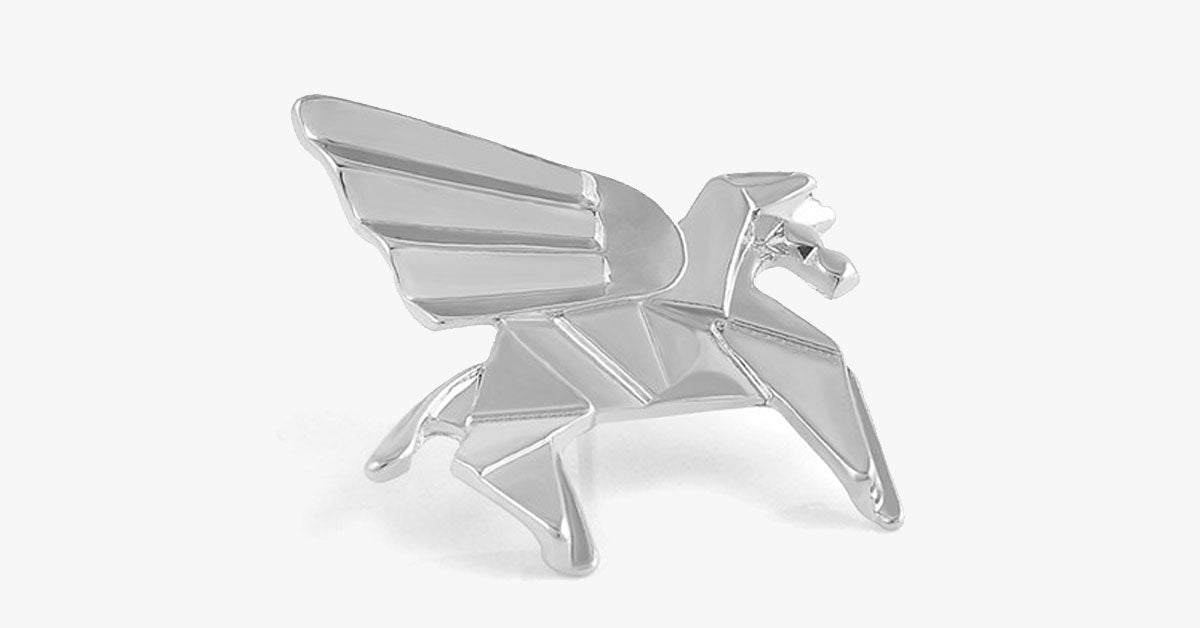 Silver Pegasus Origami Pin - FREE SHIP DEALS