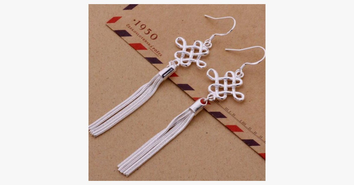 Classic Silver Tassel Earrings - FREE SHIP DEALS