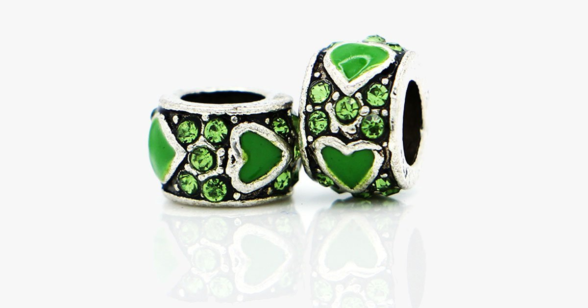 Green Heart Charm - FREE SHIP DEALS