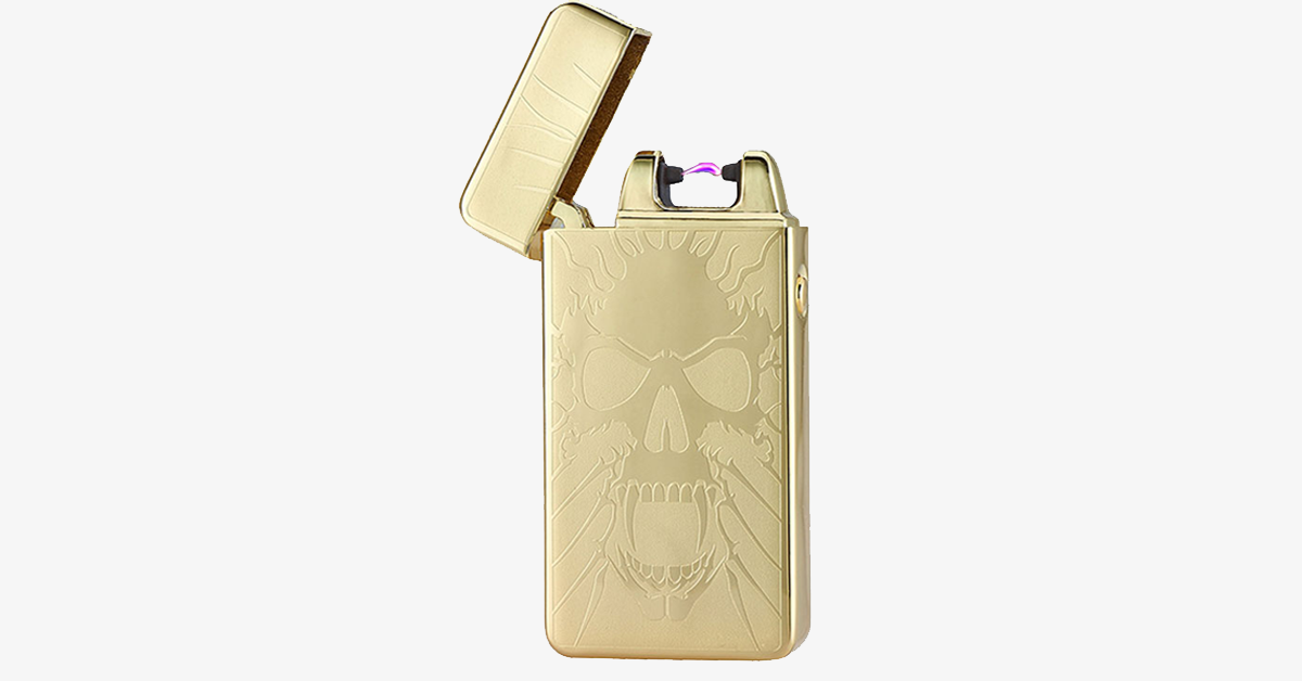 Golden Skull Rechargeable Windproof Lighter - FREE SHIP DEALS