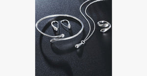 Silver Waterdrop Necklace Set - FREE SHIP DEALS