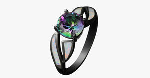 Rainbow Fire Opal Ring - FREE SHIP DEALS