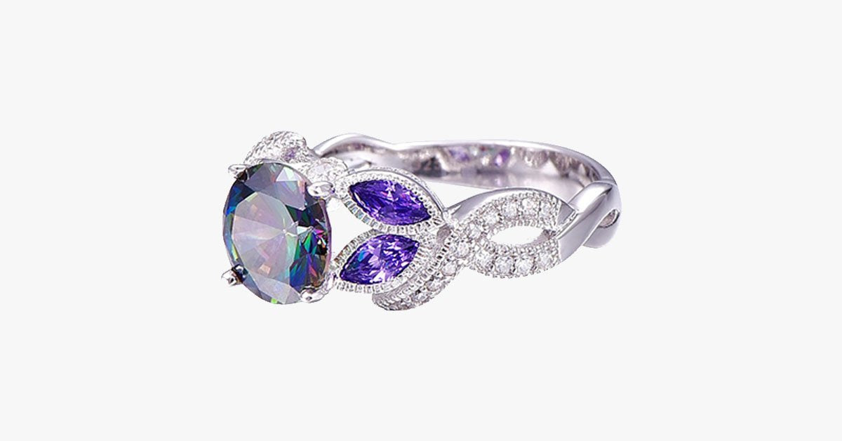 Rainbow Topaz Crystal Ring - FREE SHIP DEALS