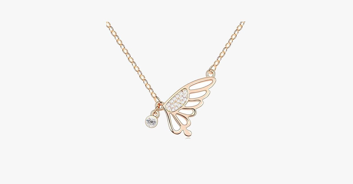 Butterfly Florence Crystal Pendant - FREE SHIP DEALS