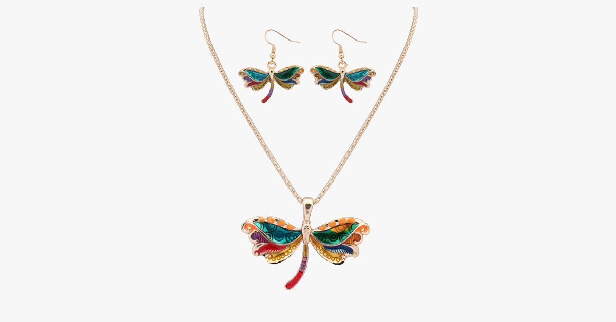 Butterfly Hippie Pendant Set - FREE SHIP DEALS