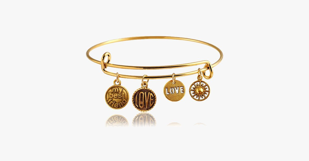 Best Friend Charm Bangle - FREE SHIP DEALS