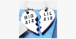 Big Sis Lil Sis Pendant Set - FREE SHIP DEALS