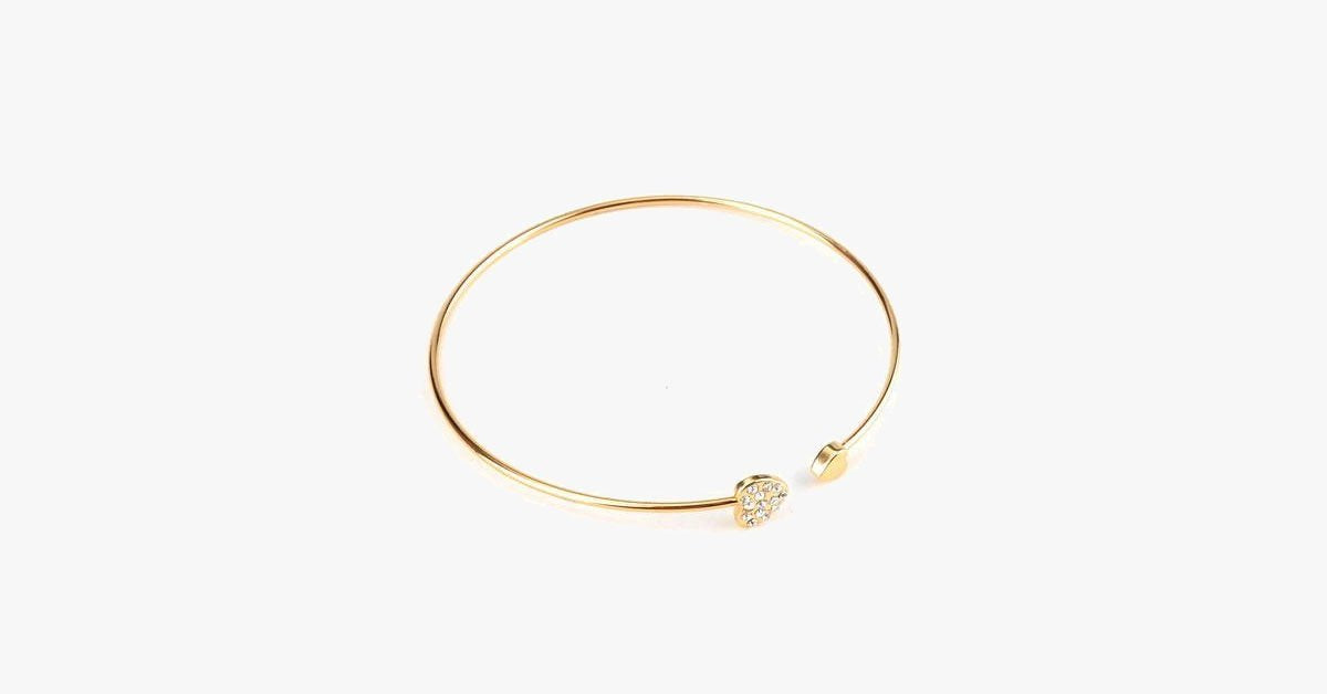 Crystal Heart Bangle - FREE SHIP DEALS
