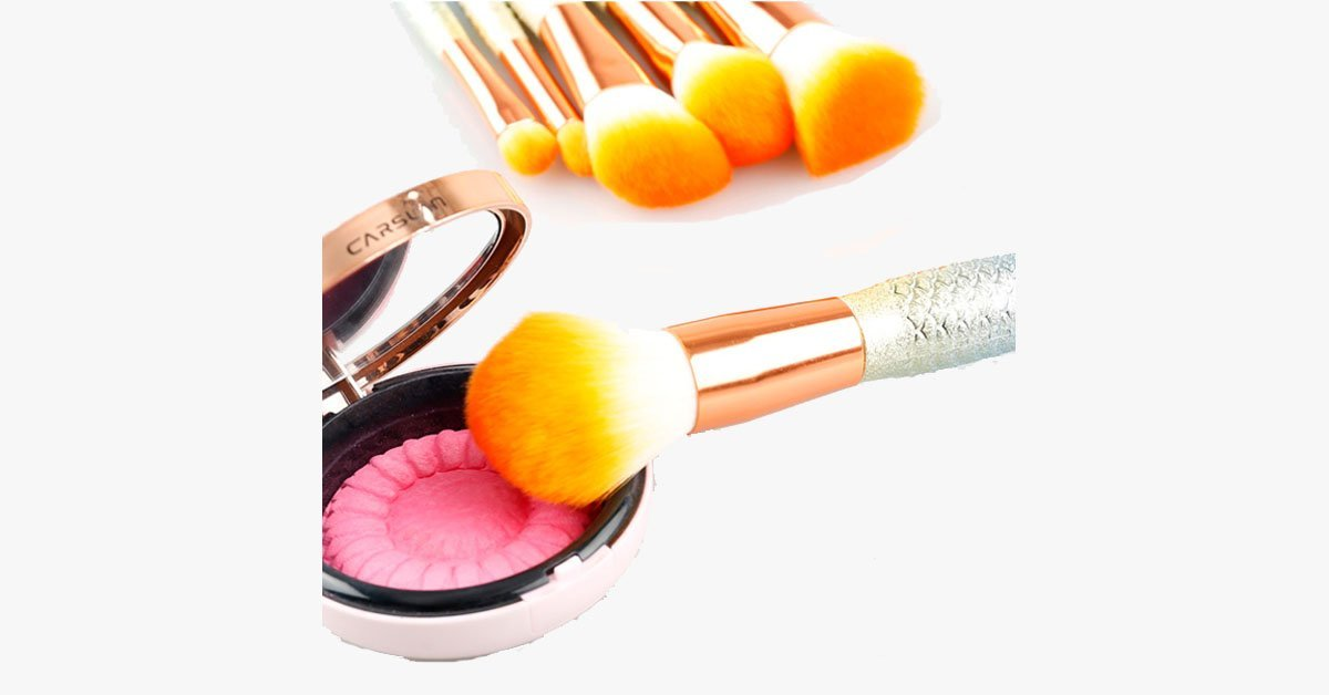 Mermaid Dream Glam Brush Set- Make Your Make-Up Perfect in a Glamorous Way