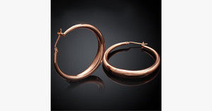 Classic Bold Gold Hoops- Secured With a Back Closure - Perfect for All Occasions
