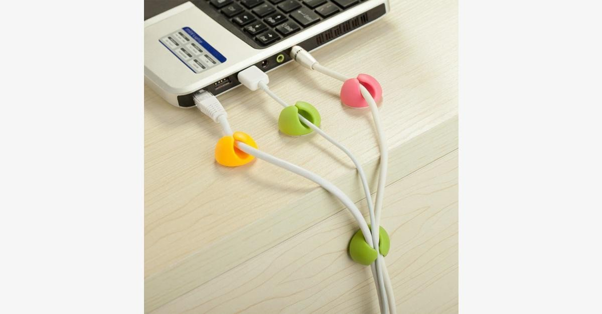 3 Pack Cable Clip Management System - Assorted Colors - FREE SHIP DEALS