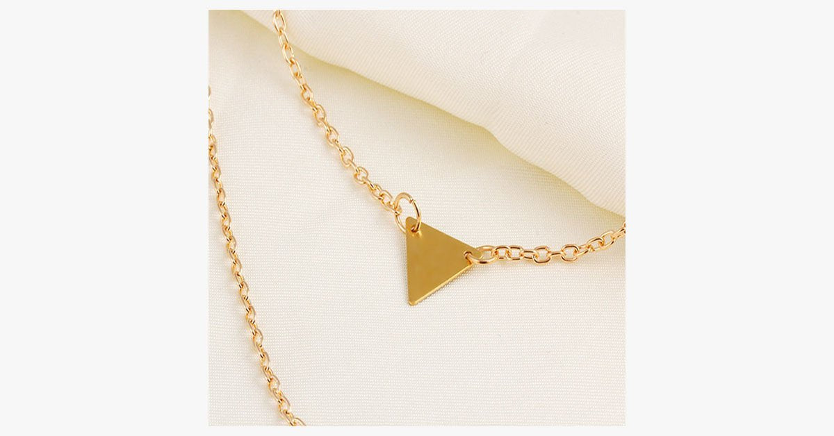 Double Layer Long Triangle Pendant - FREE SHIP DEALS