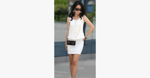 Mini Chiffon Sleeveless Tunic Dress - FREE SHIP DEALS