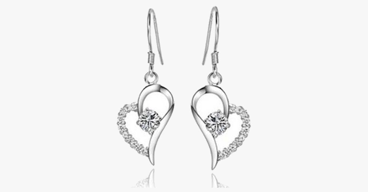 Crystal Heart Earrings - FREE SHIP DEALS