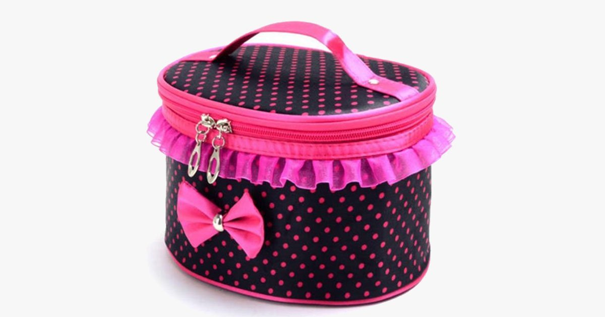 BowKnot Design Portable Travel Bag - Room for Your Accessories!