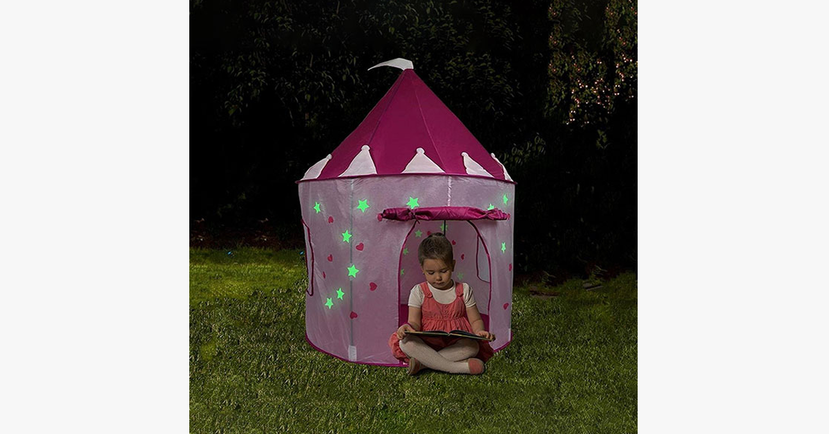 Glow In The Dark Castle Tent House - FREE SHIP DEALS