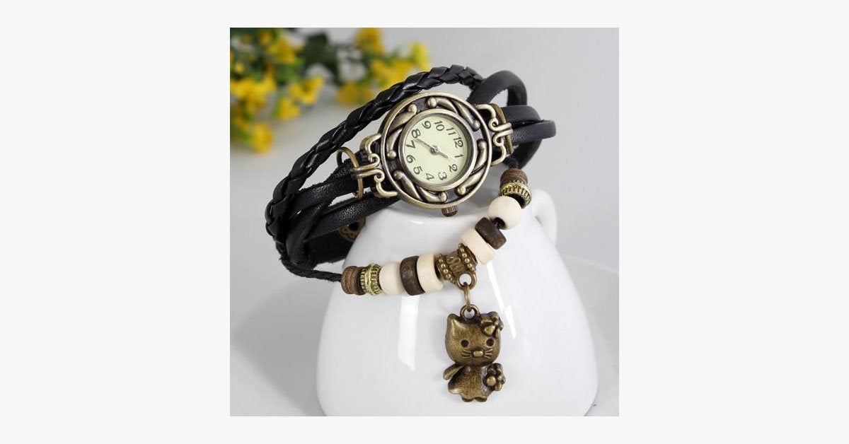 Cat Vintage Wrap Watch - FREE SHIP DEALS