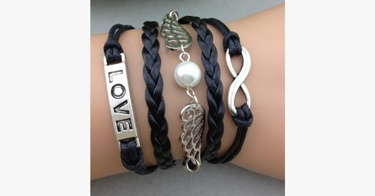 Pearl Wings Love Bracelet
