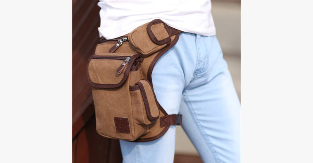 Multifunction Outdoor Cotton Sport Leg Bag Canvas Waist Bag Money Belt Fanny Pack - FREE SHIP DEALS