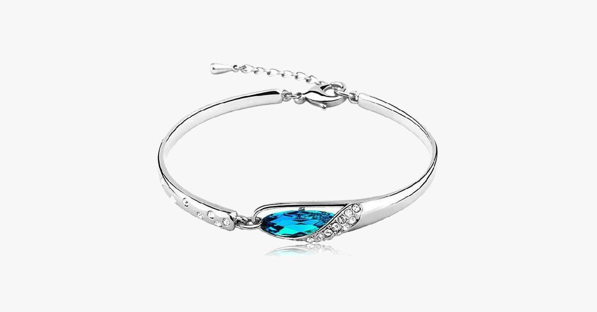 Blue Crystal Bracelet - FREE SHIP DEALS