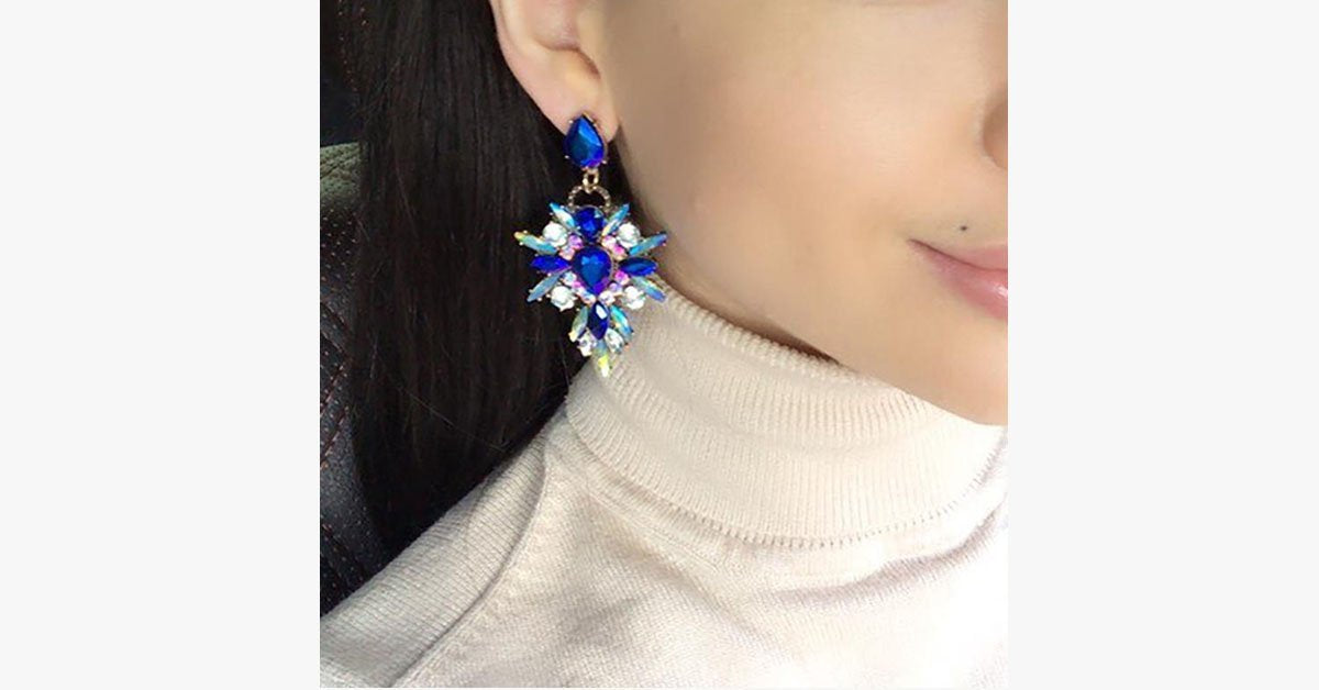 Luxury Starburst Crystal Earring - FREE SHIP DEALS