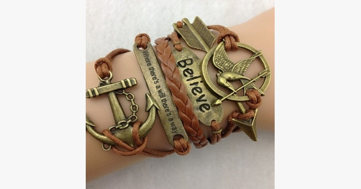 Mocking Jay Anchor Believe - FREE SHIP DEALS